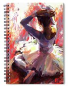 Ballet Dancer Siting  Spiral Notebook