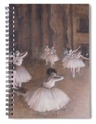 Ballet Rehearsal On The Stage Spiral Notebook
