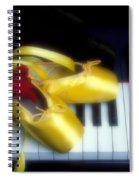 Ballet Shoes On Piano Keys Spiral Notebook