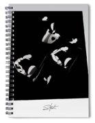 Ballet Silouette Spiral Notebook