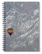 Ballon Verses Mountain Spiral Notebook