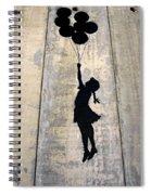 Ballons Girl Spiral Notebook