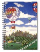 Ballooning Over The Country Spiral Notebook