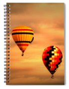 Balloons In The Morning Spiral Notebook