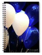 Balloons Of Blue And White Spiral Notebook