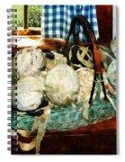 Balls Of Cloth Strips In Basket Spiral Notebook