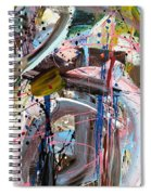 Balmy Nights Abstract Spiral Notebook