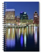 Baltimore Blue Hour Spiral Notebook