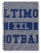 Baltimore Colts Retro Shirt Spiral Notebook