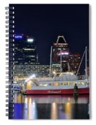 Baltimore Harbor At Night Spiral Notebook