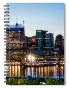 Baltimore Inner Harbor Reflections Spiral Notebook