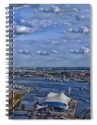 Baltimore Maryland Inner Harbor Spiral Notebook