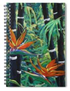 Bamboo And Birds Of Paradise Spiral Notebook