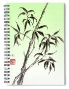 Bamboo Drawing  Spiral Notebook