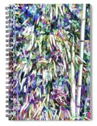 Bamboo Forest Background Spiral Notebook