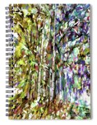 Bamboo Trees In Park Spiral Notebook