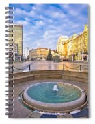 Ban Jelacic Square In Zagreb Advent View Spiral Notebook