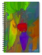 Banana Flower Spiral Notebook