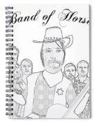 Band Of Horses Spiral Notebook
