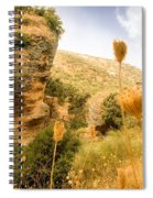 Bandit Country Near The Edge Of The Fan In Ronda Area Andalucia Spain  Spiral Notebook