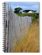 Bandon Beach Fence Spiral Notebook
