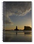 Bandon Sunset 4 Spiral Notebook
