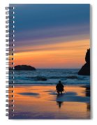 Bandon Sunset Photographer Spiral Notebook