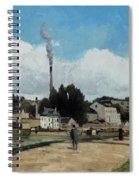 Banks Of The Oise At Pontoise Spiral Notebook