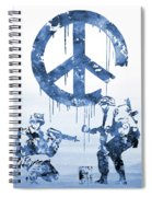 Banksy Soldiers-blue Spiral Notebook