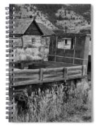 Bannack Extended Parking Black And White Spiral Notebook