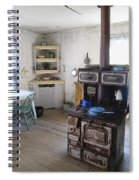 Bannack Ghost Town  Kitchen And Stove - Montana Territory Spiral Notebook