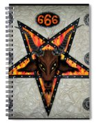 Baphomet - Satanic Pentagram - 666 Spiral Notebook