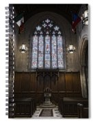 Baptismal Font - Church Of Heavenly Rest Spiral Notebook
