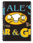 Bar And Grill Sign Spiral Notebook