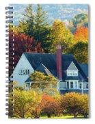 Bar Harbor Autumn House Spiral Notebook