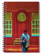 Bar Mitzvah Lesson At The Synagogue Spiral Notebook