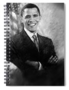Barack Obama Martin Luther King Jr And Malcolm X Spiral Notebook