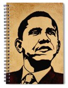 Barack Obama Original Coffee Painting Spiral Notebook