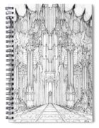 Barad-dur Gate Study Spiral Notebook