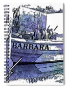 Barbara Berry Blues 3 Dimensional Spiral Notebook