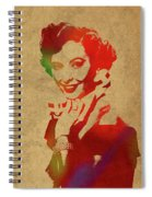 Barbara Stanwyck Watercolor Portrait Spiral Notebook