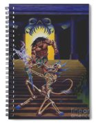 Barbarian And Skeleton Wizard Spiral Notebook
