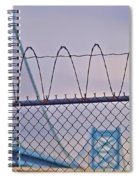 Barbed Wire Bridge Spiral Notebook