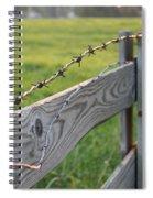 Barbed Wire Spiral Notebook