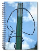 Barbed Wire Sky Spiral Notebook
