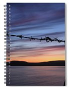 Barbed Wire Sunset Spiral Notebook