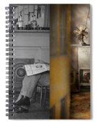 Barber - Our Family Barber 1935 - Side By Side Spiral Notebook