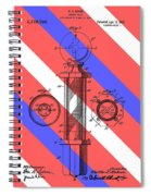 Barber Pole Patent Spiral Notebook