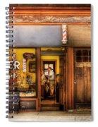Barber - Towne Barber Shop Spiral Notebook