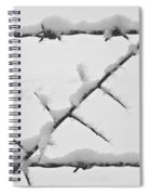 Barbwire Fence In Snow 1 Spiral Notebook